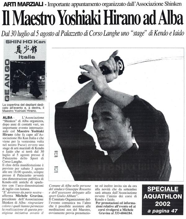 Il maestro Yoshiaki Hirano ad Alba